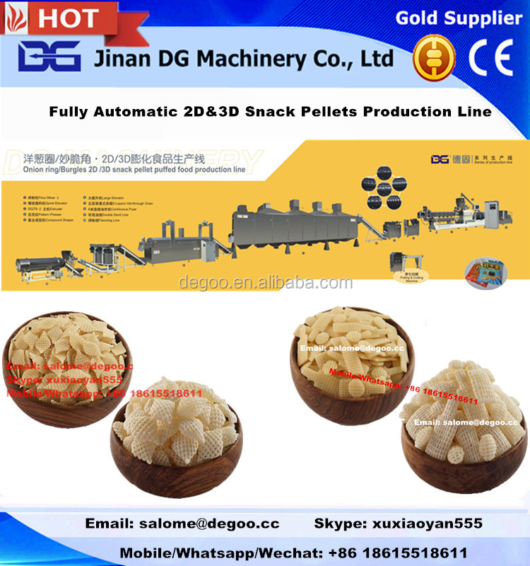 Corn Starch 3D Snack Pellets Processing Line