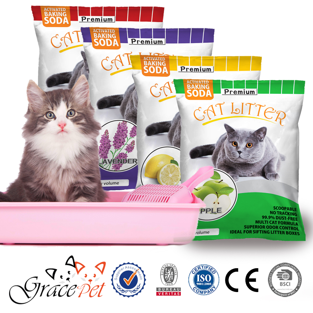 [Grace Pet] Four scents bentonite cat litter for home use