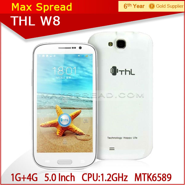 1G /4G Quad core MTK6589 8.0MP Smartphone big sound mobile phone