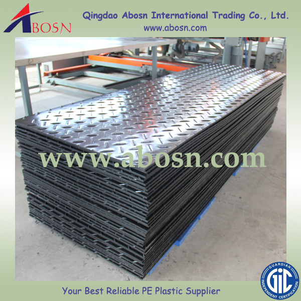 plastic road mat/temporary protective floor covering/portable roadways mats