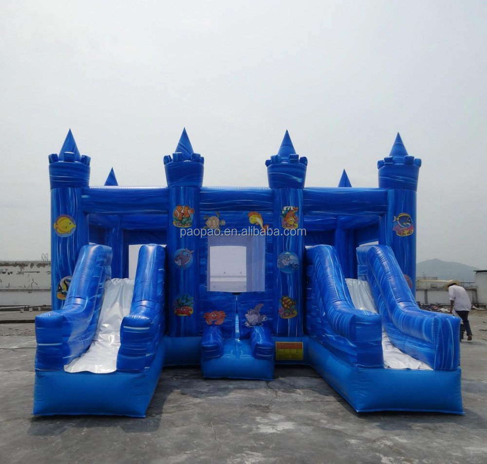 Kids Inflatable Games Used Party Rental Equipment For Sale, wave double slider combo