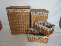 Split Willow Laundry Basket S4