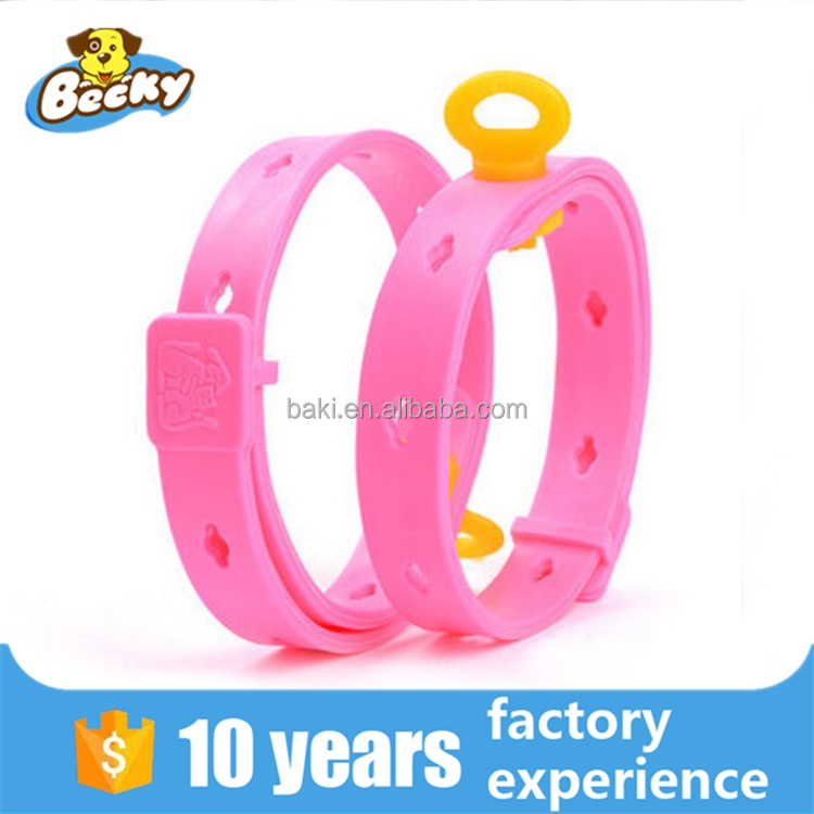 2016 Factory Hot Sale Adjustable Rubber Dog Cat Flea Collar