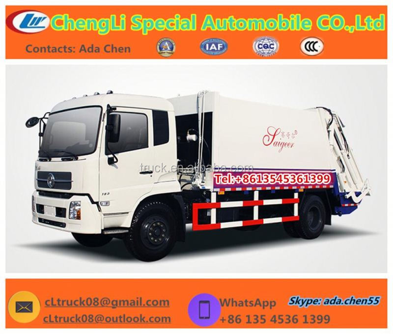 3T to 5T 15m3 garbage compactor truck garbage truck dimensions small garbage truck