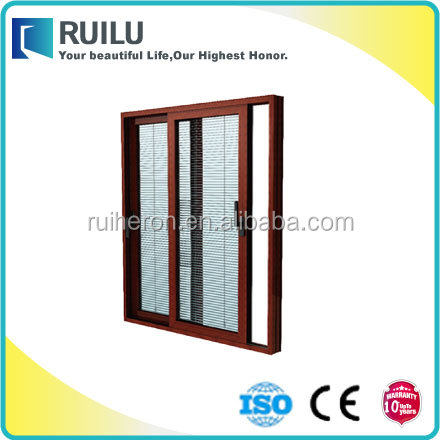 High quality competitive price export to Brazil aluminiu alloy sliding waterproof window with insects screen