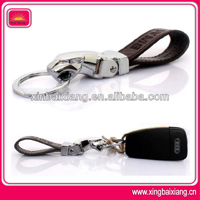 New design jaguar leather keyring