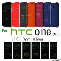 Fashion Ultra Slim Dot View Flip Case for HTC M8