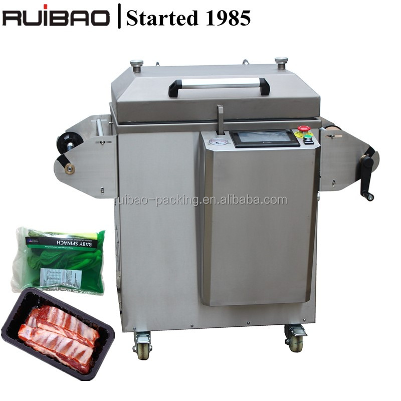 Yute MAP vacuum packaging machine, tray sealer with nitrogen filling
