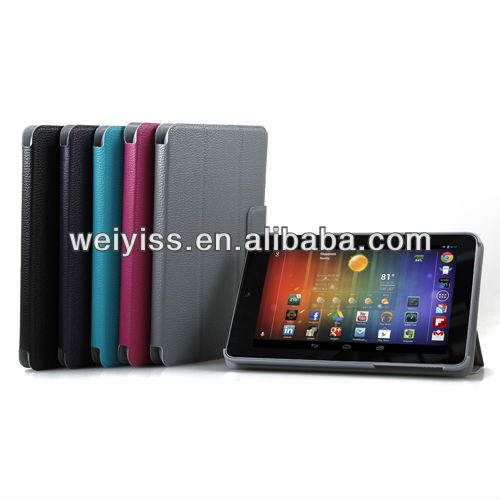 Grey PU Leather Slim Magnetic Smart Cover Case Stand for Nexus 7