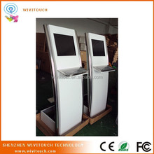 touch screen information kiosk with keyboard & trackball