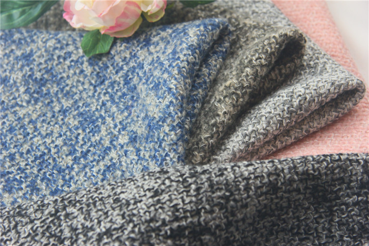 China Manufacturer Super Quality Tweed Italian Wool Suit Fabric