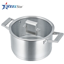 Kitchen cooking stainless steel casserole with pot cover