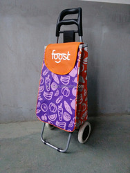 foldable trolley cart shopping bags with wheels for vegetable and fruit