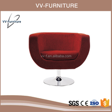 unique cup shaped upholstered single seater sofa chair