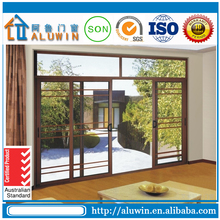 used sliding double tempered glass doors sale from china
