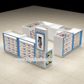 Newest cell phone accessories kiosk with retail mobile phone shop interior design for sale