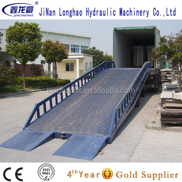 Mobile auto hydraulic dock ramp for sale/car yard ramp