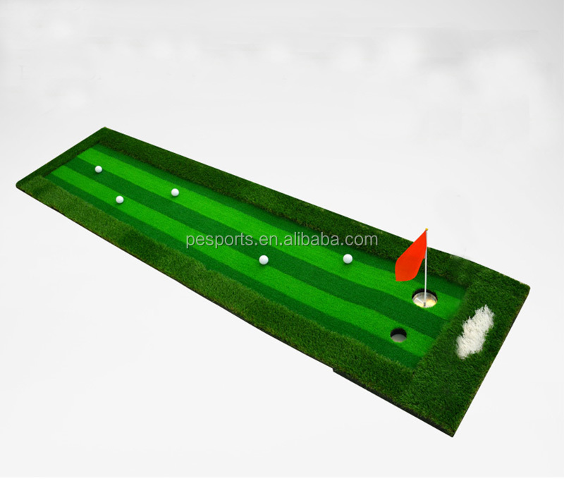 Mini Golf Project Green Custom Logo Driving Range Mat, Putting Trainer Hitting Mat