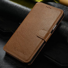 Mobile phone accessories wholesale for samsung galaxy note 4 case Real Leather