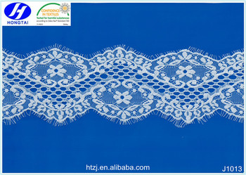 Hongtai latest style high quality china eyelash lace trimming