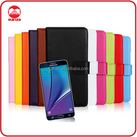China Manufacturer Wholesale Book Pouch Stand Pocket Wallet Leather Flip Case Cover for Samsung Galaxy Note 5