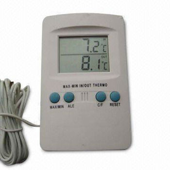 Indoor Outdoor Digital Thermometer with Sensor and Probe