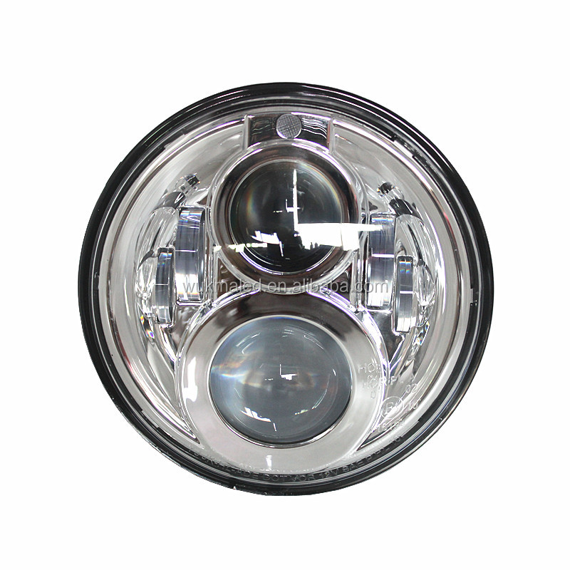7 inch Daymaker Projector Led Headlamp Chrome 65w 4000LM Hi/Low Beam Led headlight with parking light for Harleys Davidsons