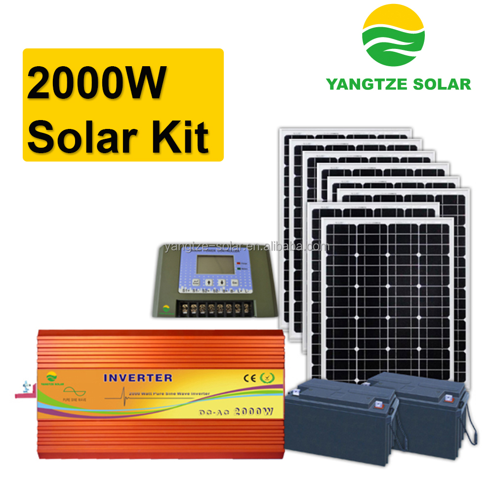 High effcient 2kw solar lighting system home