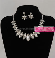 wedding alloy choker delicate diamond necklace sets