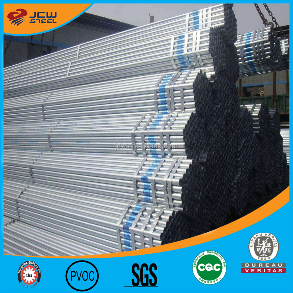 Made in china galvanized welded round steel tube,hot dip pre galvanized round steel pipe