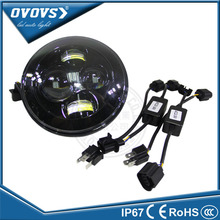 OVOVS high lumen led 12v led head lights 7inch defender led headlight for j-eep