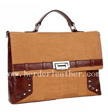 High quality male handbag customized genuine crocodile leather briefcase