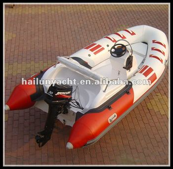 Hot!! CE fiberglass rib speed boats for sale (HLB420)