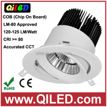 Recessed LED Downlight 3.5inch 12W COB adjustable china ceiling light 220 volt 3 years warranty