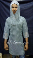 Medieval Chain Mail Shirt & Hat Hood