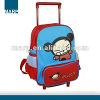 Cute basic kids trolley school bag