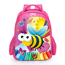 Kids 2016 cartoon picture of school bag young girl fancy bagpack 3d print backpack