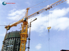 6tons QTZ63(TC5613) used tower crane mono mast section yellow in Guangdong,tower crane price quote by manufacturer
