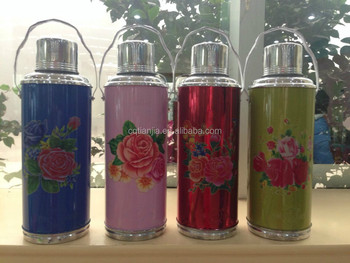metal vacuum flask with glass inner 103D