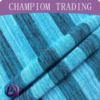 2015 spring and summer fashion rayon poly melange stripe hacci knitting fabric hacci fabric for garment