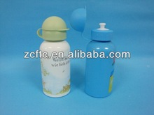 400ML fashion aluminum bottle,aluminum sport water bottle with over cap