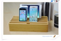 Eco-Friendly Bamboo Multi-Device 6 usb usb desktop dock charger Charging Station