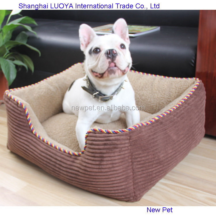Excellent quality modern design cotton dog beds sofa warn luxury pet dog beds