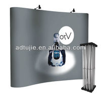 pop up fabric wall display exhibition booth pvc panel