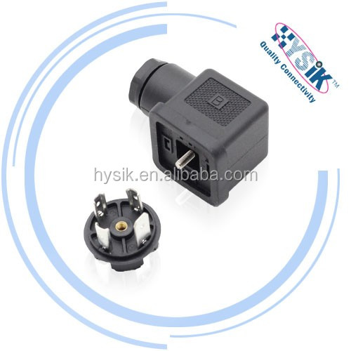 Form A C type 2+pe / 3+pe magnetic power connector,DIN connector, solenoid valve connector