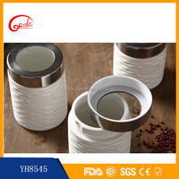 3 pcs/set Round Cylindrical ceramic food storage container