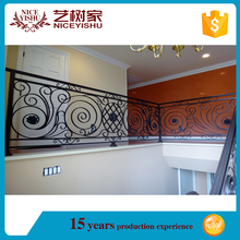 modern house used steel railing for outdoor or indoor stairs /wrought iron railing parts/lowes wrought iron railings