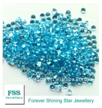 Machine Cut Small Size Swiss Blue Topaz Melee Small Loose Gemstone1.5mm*1.5mm For Wholesale