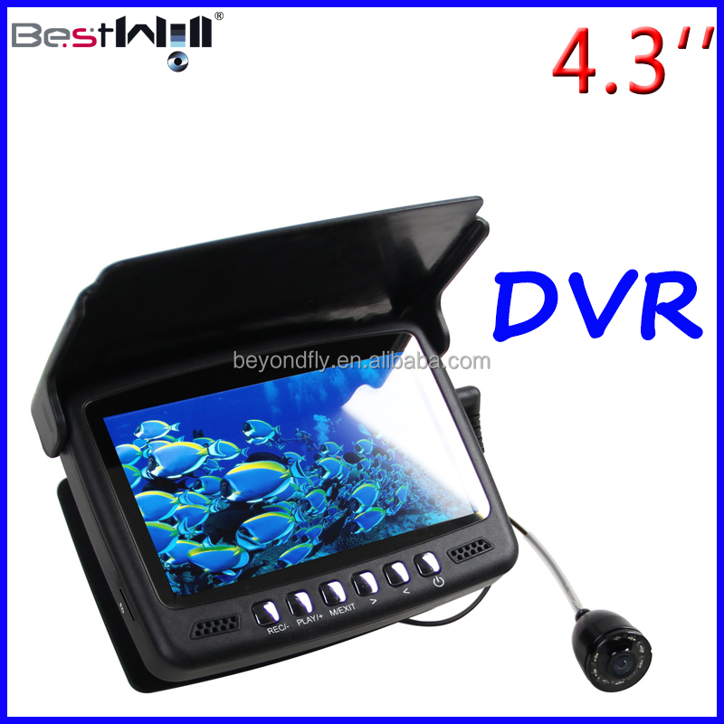 4.3'' Digital LCD ScreenCR110-7HBS with DVR, Sun-visor HD 1000TVL Underwater Fishing Camera Ice Fishing Camera with 15-30M cable