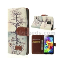 Leather wallet case for samsung galaxy s5 case wallet